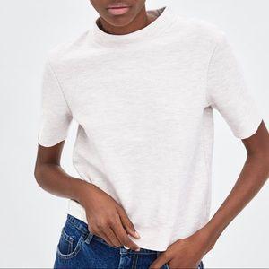 [Zara] Soft Touch Mock Neck T-Shirt